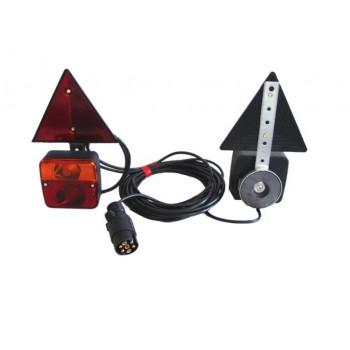 Kit luci posteriori - Fissaggio magnetico e triangoli riflettenti