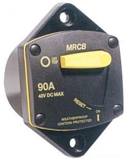 Interruttore termico stagno di protezione da incasso per verricello ed elica di prua