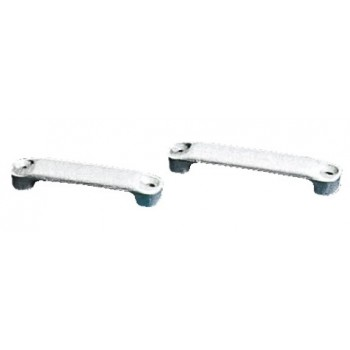 Ponticello passacinghie in nylon bianco, passaggio 40 - 50 mm