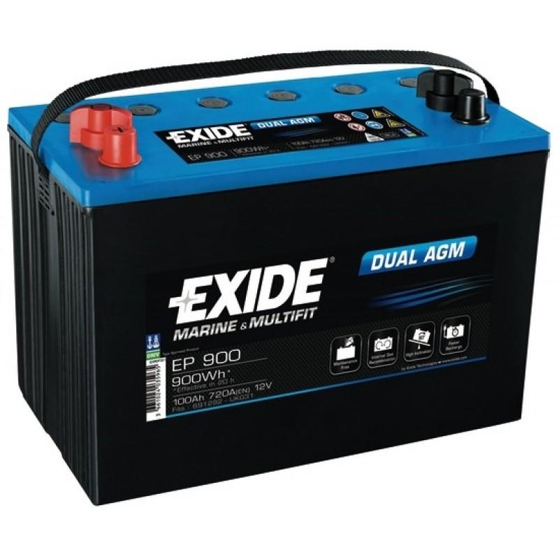 Batteria EXIDE Agm 100 Ah per servizi ed avviamento