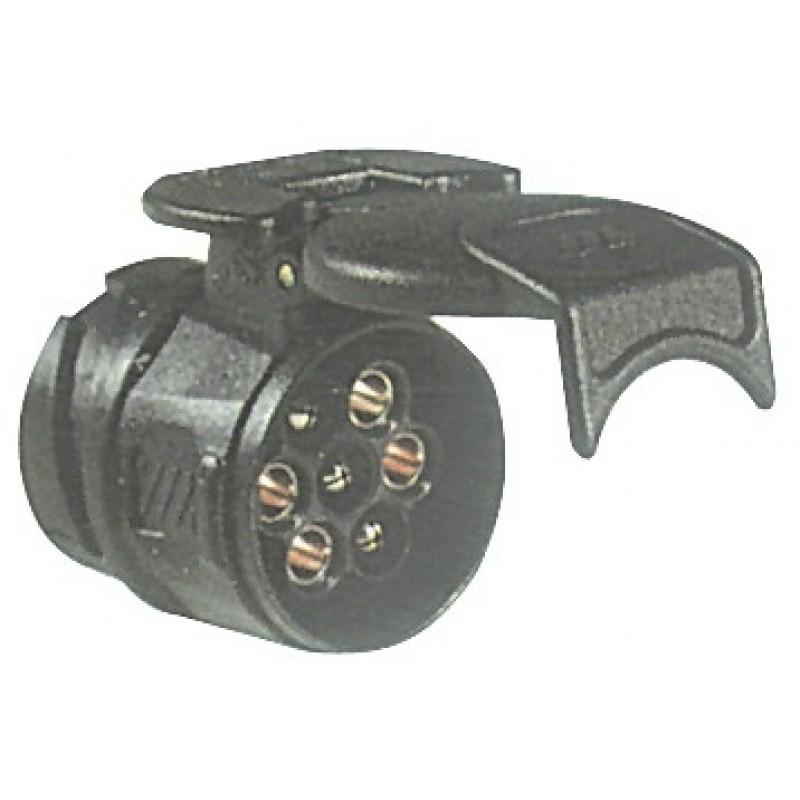 Adattatore spina a 13 poli con presa a 7 poli per carrello rimorchio