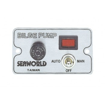 Pannello di controllo manuale per pompe di sentina elettriche - 12/24V