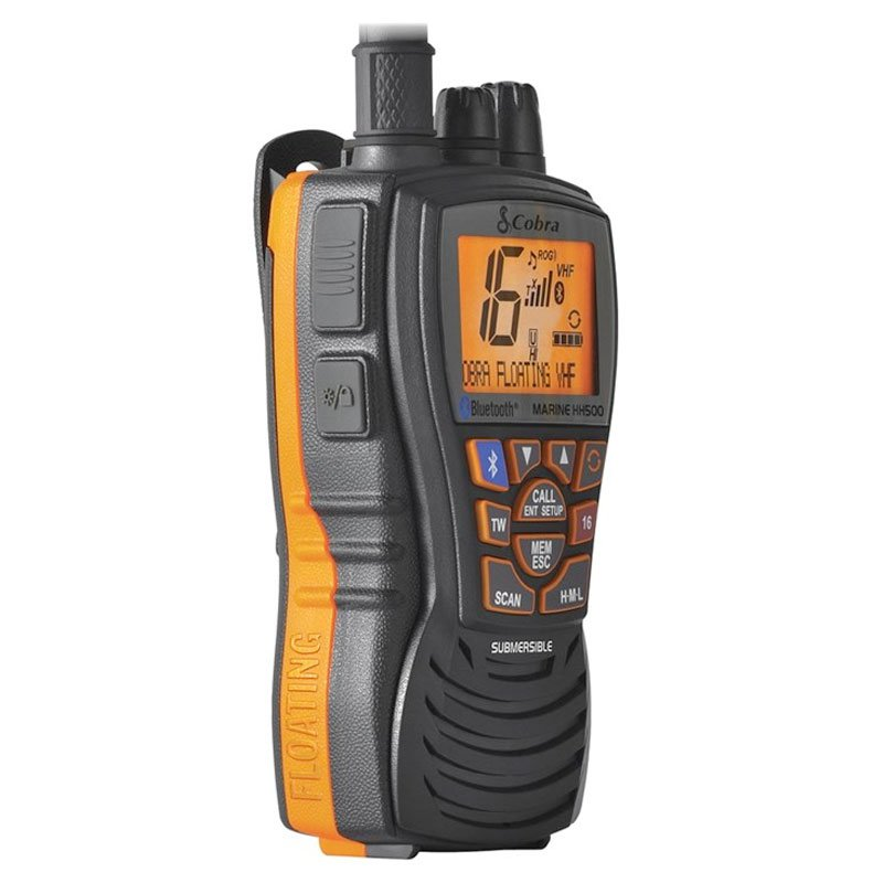VHF COBRA MARINE MR HH500 bluetooth portatile e galleggiante