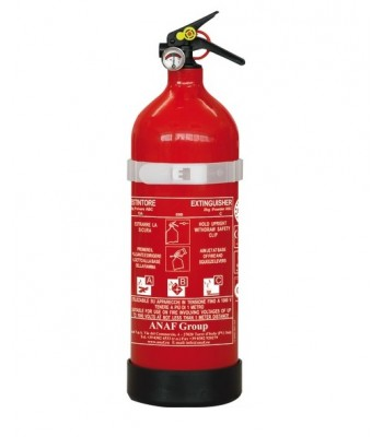MED type-tested powder extinguishers with pressure gauge