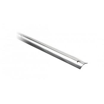 Profilo mezzo tondo in acciaio inox AISI 316 lucidato a specchio 18 x 5