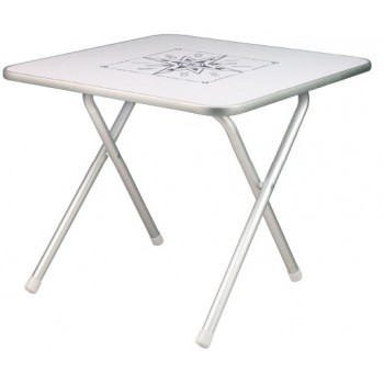 Tavolo pieghevole di alta qualità quadrato con disegno rosa dei venti