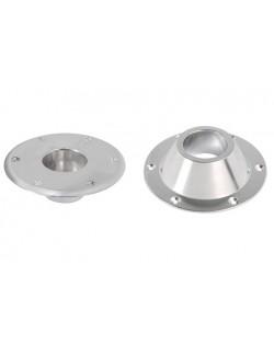 Basi di ricambio per gamba tavolo in alluminio verniciato