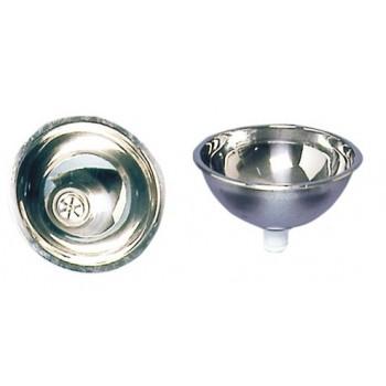 Lavello semisferico per bagno in acciaio inox - VARIE MISURE