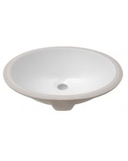 Lavello ovale in ceramica bianca