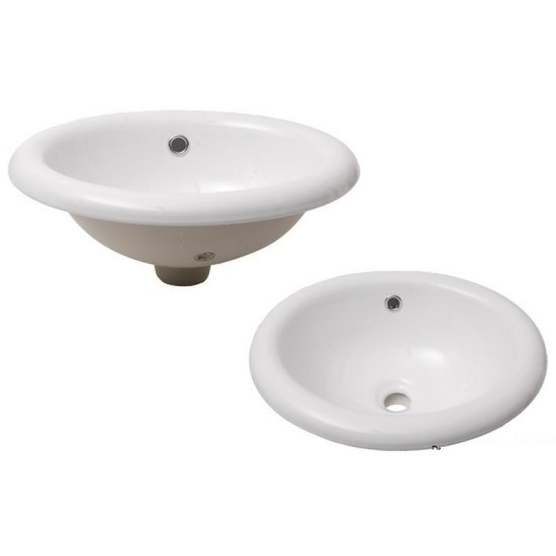 Lavello ovale in ceramica bianca - MONTAGGIO IN APPOGGIO