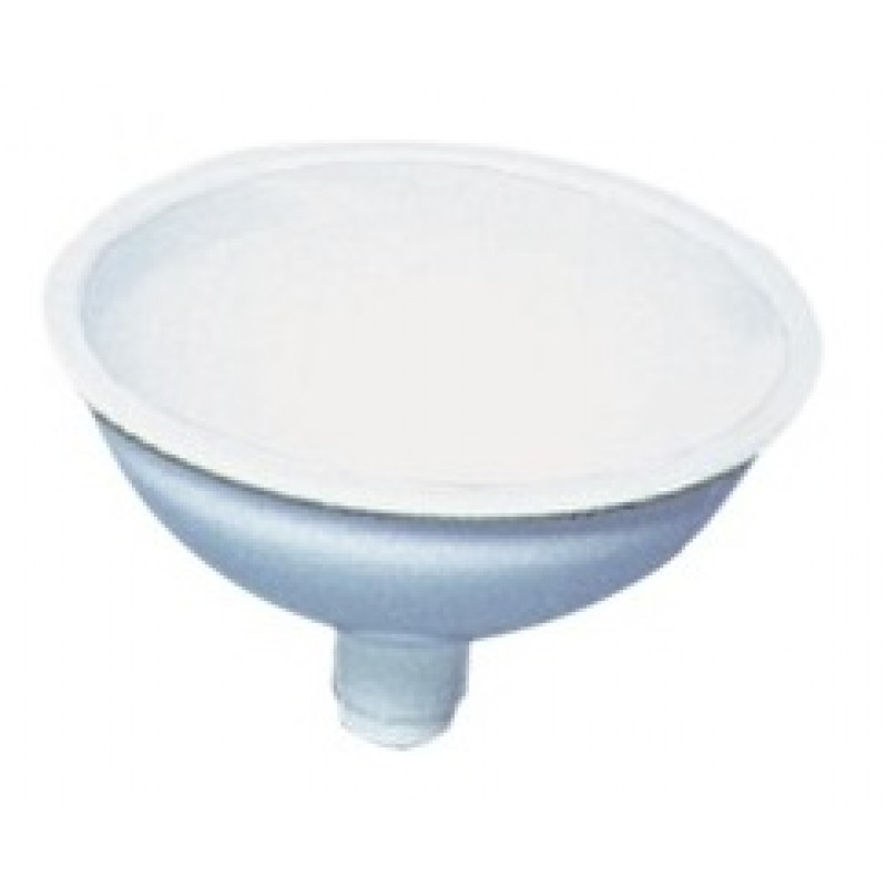 Lavello semisferico per bagno in acciaio smaltato bianco