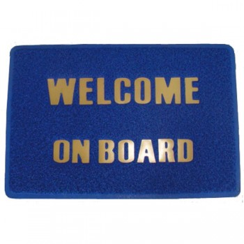 Tappetino zerbino BENVENUTO WELCOME ON BOARD BLU cm 60X40