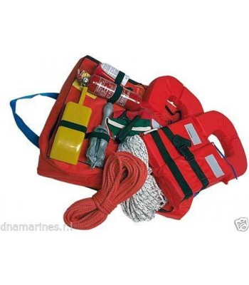 Safety navigation kit 4 persons/6 miles from pleasure boat Regulation bailer