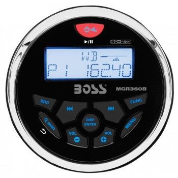 Radio circolare USB con Bluetooth Boss Marine 240W