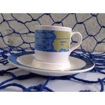 Set 6 tazzine con piattino caffé