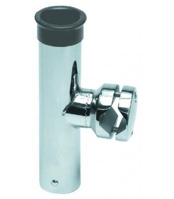 Fishing rod holder for pipe mounting