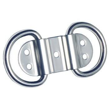 Doppio anello  in Acciaio Inox