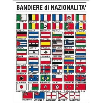 """Tabella adesiva in Crystal """"Bandiere"""" di nazionalità"""