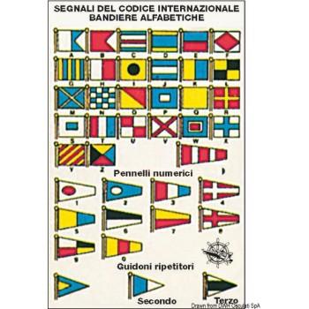 Tabella adesiva in Crystal Codice internazionale con simbologia