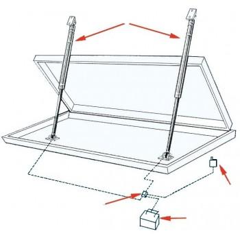 Attuatore elettrico lineare per portelloni Tipo AV per carichi pesanti