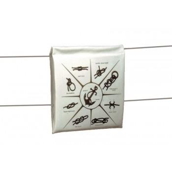 Cuscino salvagente galleggiante bianco con maniglie