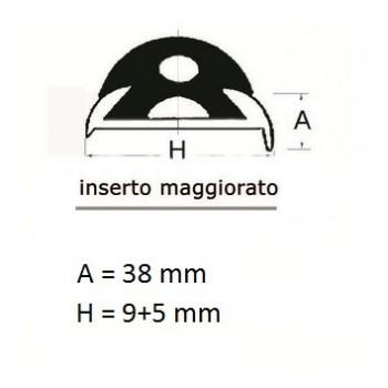 Inserto PVC flessibile maggiorato 38 mm