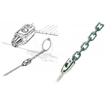 Adattatore cima-catena in acciaio inox