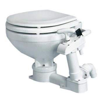 WC manuale con tavoletta legno laccato bianco