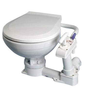 Manual toilet unit