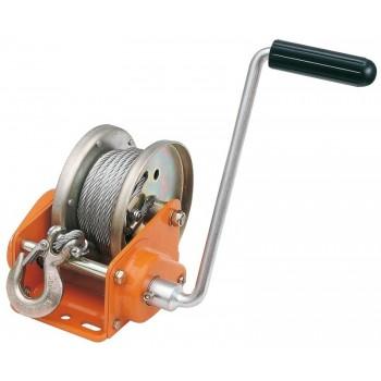 Arganello ROCK con fermo automatico e cavo in acciaio