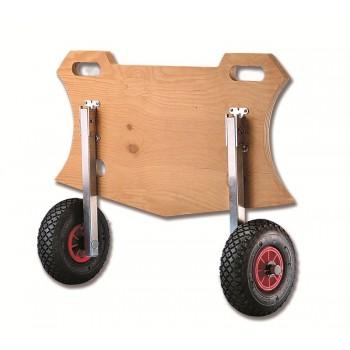 Coppia ruote di alaggio ribaltabili