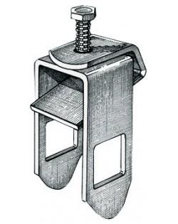 Staffa di bloccaggio rullo laterale, foro quadro 30 mm