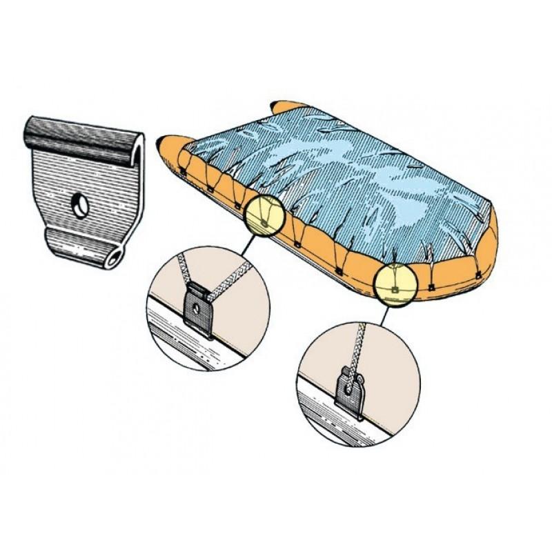Aggancio in plastica per fissaggio telo coprigommone - 12 PZ