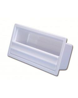 Tasca laterale porta-oggetti in ABS bianco