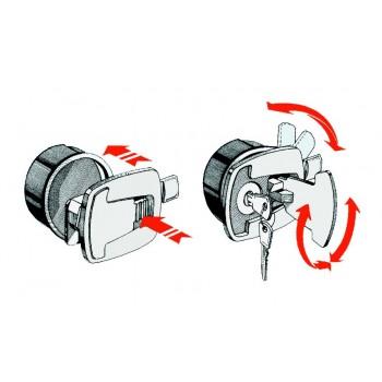 Alzapagliolo- fermapagliolo con serratura 53x60mm
