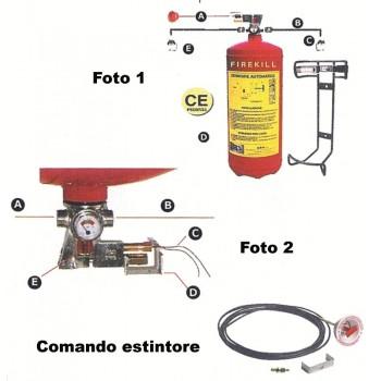 Impianto automatico anti incendio omol. RINA