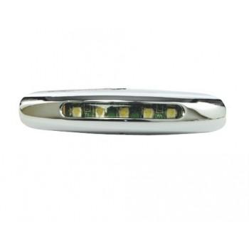 Luce di cortesia LED cromata, 12V