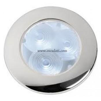 Luce di cortesia in acciaio inox  LED ATTWOOD versione tonda