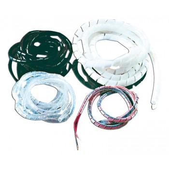 Spirale in polietilene bianco per cablaggi