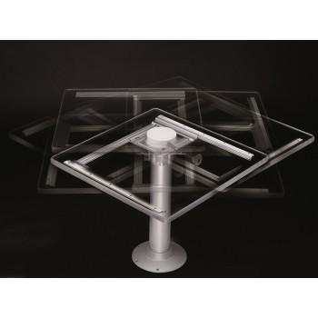 Slitta per tavoli e supporto tritelescopico