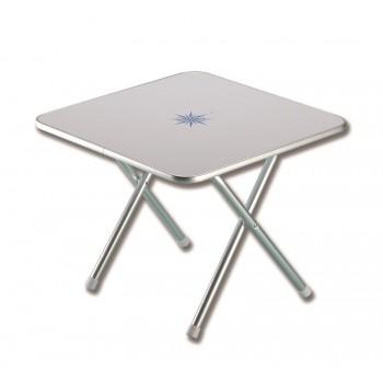 Tavolinetto salotto quadrato pieghevole con decoro marino