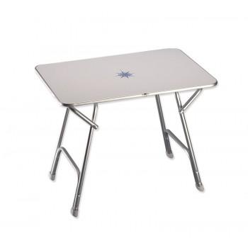 Tavolo rettangolare pieghevole «Plus» con decoro marino