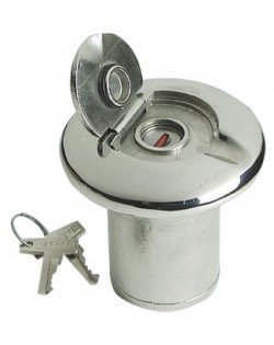 Tappo imbarco in Acciaio Inox microfuso e lucidato a specchio -  collo ø 38 mm