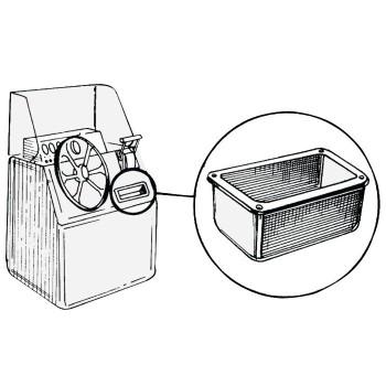 Tasca laterale in ABS bianco lucido portabicchieri/tazze/bottiglie  lucido