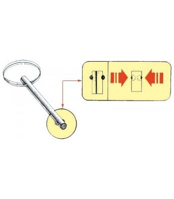 Stainless steel self-locking pins