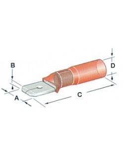 10 Faston preisolati con termoretraibile a tenuta stagna da 6,3 mm