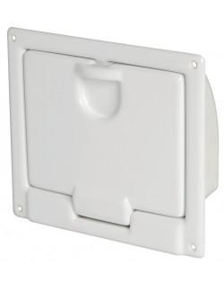 Gavone in ABS bianco lucido per montaggio a parete