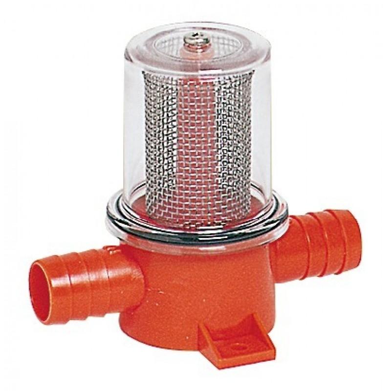 Filtro in linea per pompe di sentina e doccia