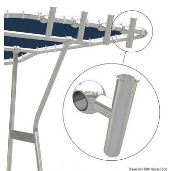 Portacanna in lega leggera per tubo Ø 44 mm