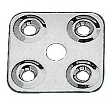 Piastrina fissa cinghie in acciaio inox